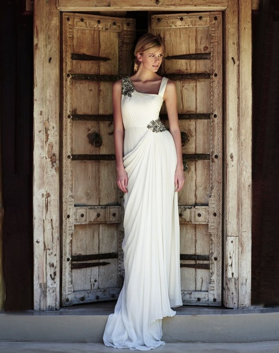 Getting Married on Skopelos in a Grecian Wedding Gown Daphne